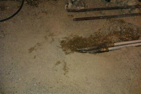 replace pipe  concrete floor plumbing job
