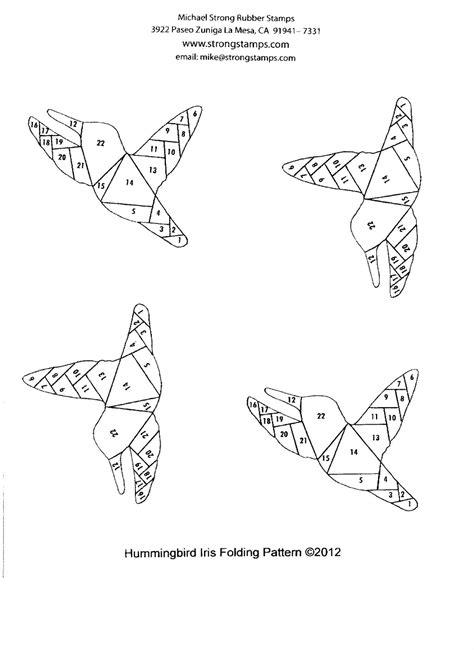 born doodler hummingbird iris folding pattern
