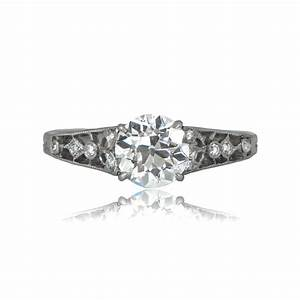 Edwardian tiffany engagement ring estate diamond jewelry for Where to sell old wedding ring