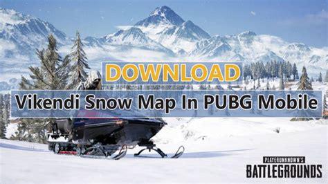 vikendi snow map  pubg mobile english version