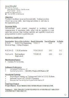 Typical Cv Template by Typical Resume Format Sle Template Exle Ofbeautiful