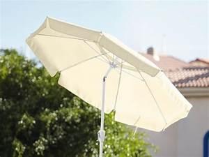 Sonnenschirm 350 Mit Kurbel : florabest sonnenschirm mit kurbel 220 cm von lidl ansehen ~ Watch28wear.com Haus und Dekorationen