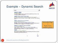 Dynamic Information Retrieval Tutorial SIGIR 2015