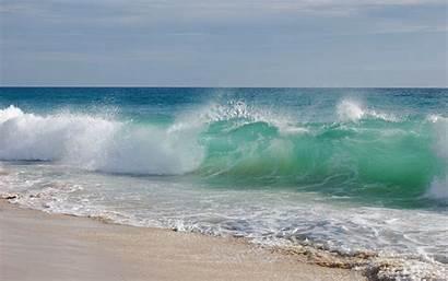 Waves Beach Wave Background Wallpapers Ocean Crashing