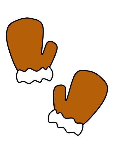 mittens clipart brown mittens brown transparent