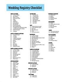 wedding registry checklist printable wedding registry checklist wedding invitation sle