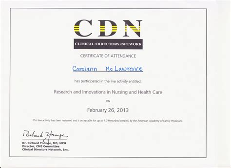 certificates of continuing education courses carolann