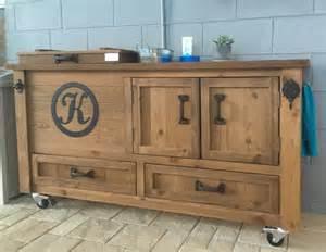 rustic cooler cabinet outdoor bar bar cabinet sideboard
