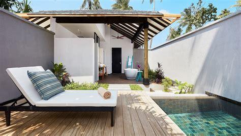 king size bed with garden pool villa amari havodda maldives