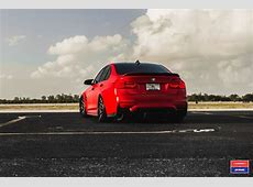 2017 BMW M3 Facelift in Red Gets Custom Vossen Wheels