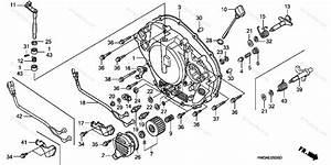 Honda Atv 2004 Oem Parts Diagram For Right Crankcase Cover