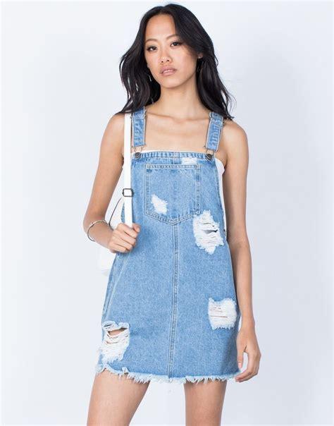 Dress Dona Denim denim overall dress wardrobemag