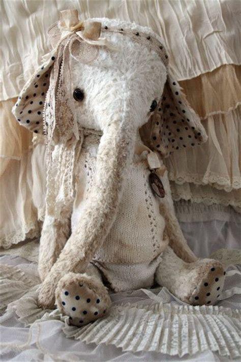 shabby chic toys ooak shabby chic toy elephant molly mae