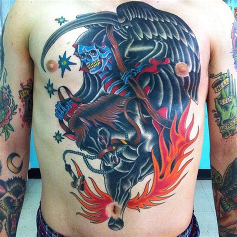 spectacular gruesome creepy  awesome grim reaper tattoos