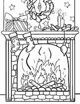 Fireplace Coloring Christmas Pages Printable Pdf Sheets Coloringcafe Adult Sheet Holiday Template Colouring Blanc Blank Adults Xmas Noel Dessin Fun sketch template