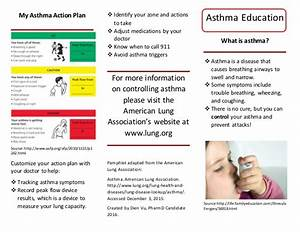 asthma flyer With asthma brochure template