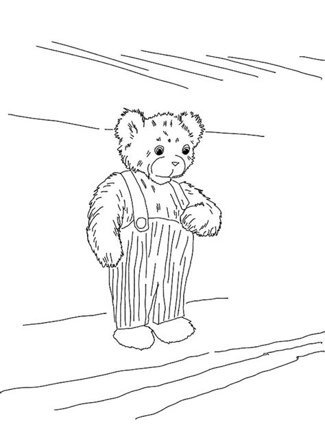 printable corduroy bear coloring sheet sketch