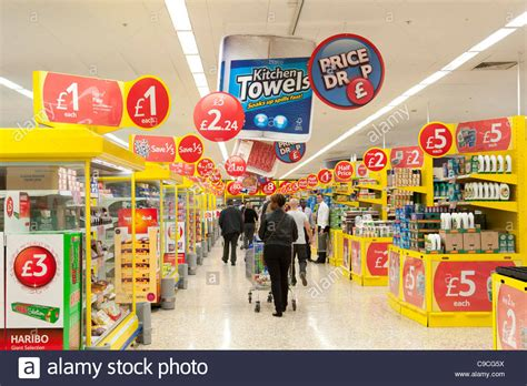 Special Offers In Tesco Extra Supermarket, Uk Stock Photo
