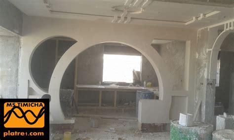 ouverture salon cuisine arc en platre moderne marocain platre