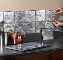 Decorative Kitchen Backsplash 14 Pc Floral Embossed Silver Backsplash Tin Wall Tiles Kitchen Decor New I3132j4 Ebay