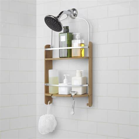 umbra barrel bamboo shower caddy natural kitchen stuff