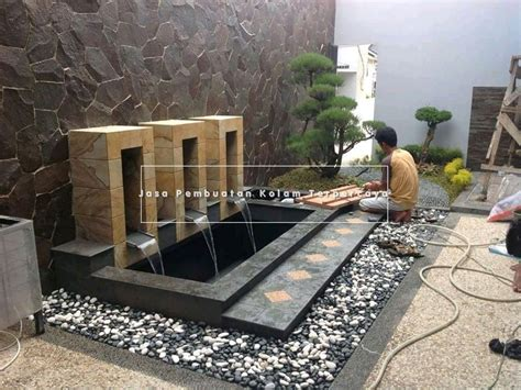 tukang kolam minimalis koi surabaya barat jasa taman