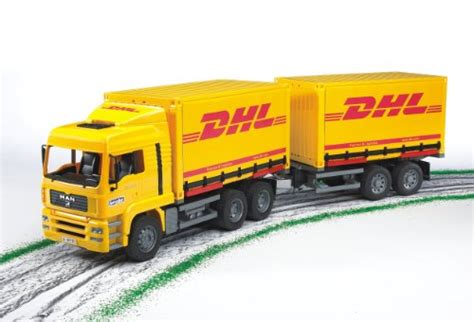 Bruder Man Dhl Truck With Trailer