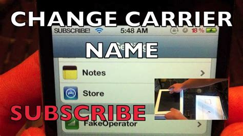 change iphone name change carrier name iphone 4s 4 3gs 3g ipod touch 4g
