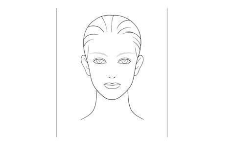 Makeup Face Template Erieairfair