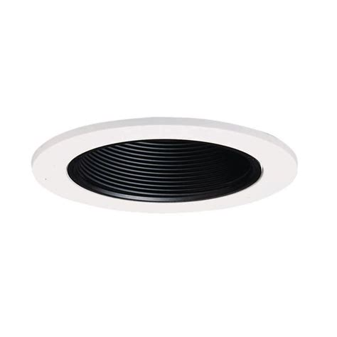 home depot recessed lighting trim halo 4 in black recessed lighting baffle with white trim