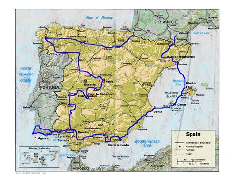 karte portugal algarve kleve landkarte