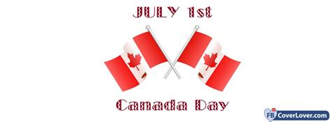 July Canada Day Holidays Celebrations Facebook Cover
