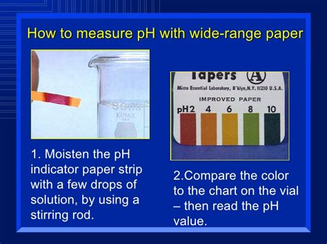 Acid And Bases Ph Color Chart