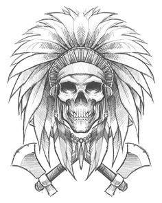 Indian Skull Drawing at GetDrawings   Free download