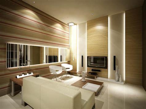 beleuchtung im wohnzimmer modern  ideen mit led licht