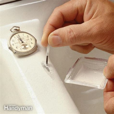 kitchen sink repair kit how to fix a chipped sink the family handyman 5919