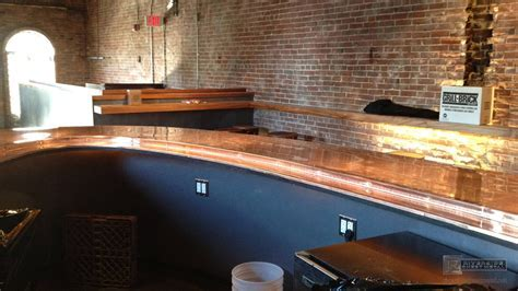 Brick and Mortar's copper counter top, Cambridge   MA