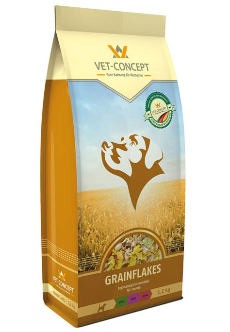 grainflakes cerealien fuer den hund vet concept gmbh