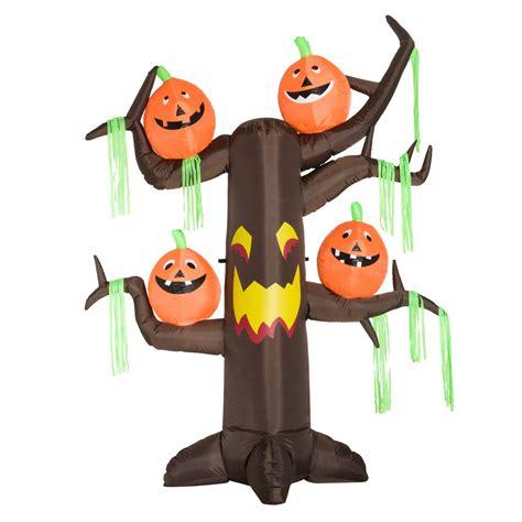 HOMCOM Halloween Inflatable Decoration Ghost Tree, 2.4m, 6 ...