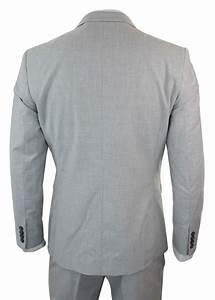 Costume 3 Pièces Gris : costume 3 pi ces homme gris clair ajust veste gilet pantalon vendus s paremment ebay ~ Dallasstarsshop.com Idées de Décoration