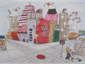 Perspective Drawings Candy Land