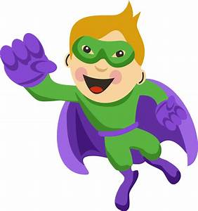 Kids with Superheroes Costumes Clip Art. - Oh My Fiesta ...