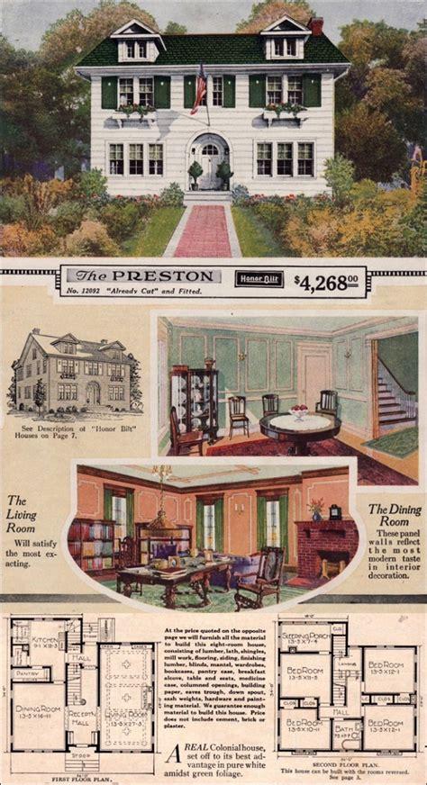 sears roebuck kit house  preston  house floor plans kit homes vintage house