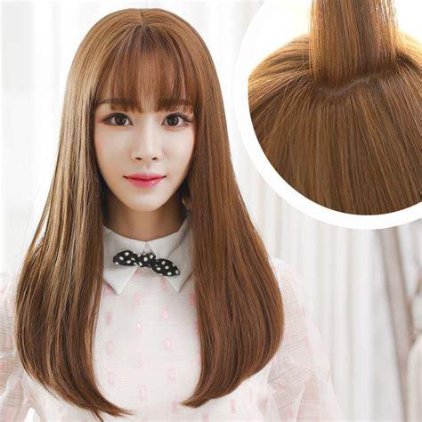compre flequillo korean air la peluca volumen de la cabeza