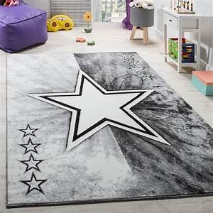 Teppich Stern Beige : teppich kinderzimmer stern design spielteppich kinderteppich kurzflor in grau kinderteppiche ~ Whattoseeinmadrid.com Haus und Dekorationen