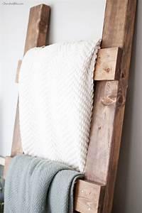 DIY Blanket Ladder Free Plans - Cherished Bliss