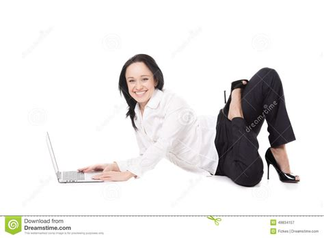 posture bureau office sitting in pose in front of laptop