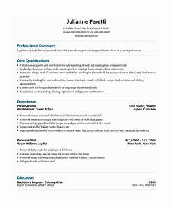 personal resume template 6 free word pdf document With chef resume sample pdf