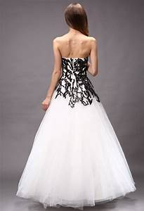 Robe De Mariée Noire : robe de mari e blanche et noir princesse ~ Dallasstarsshop.com Idées de Décoration