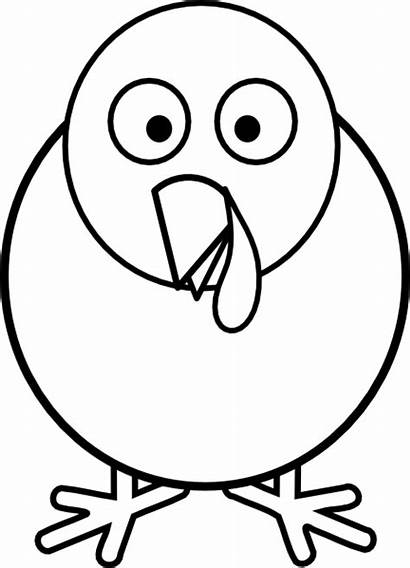 Turkey Clip Clipart Face Round Thanksgiving Feathers